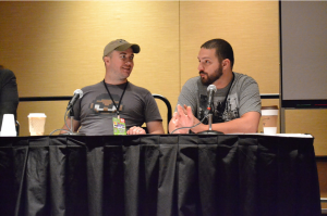 "Photo by Alex Weiss. At Indy Pop Con 2014. Panel entitled ""I Want to Play Your Indie Game"""